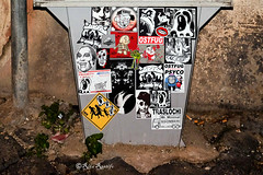 Roma. Rione Regola. Street art-sticker art by 5toker, Standard574-Jeman, Ostfug, Merioone, dead_by_it, HansHellGretel, Ostfug-Psyco, Drew, Oldeddy, Mr.Minimal and... (R come Rit@) Tags: italia italy roma rome ritarestifo photography streetphotography streetart arte art arteurbana streetartphotography urbanart urban wall walls wallart graffiti graff graffitiart muro muri streetartroma streetartrome romestreetart romastreetart graffitiroma graffitirome romegraffiti romeurbanart urbanartroma streetartitaly italystreetart contemporaryart artecontemporanea artedistrada rioneregola rione regola sticker stickers stickerart stickerbomb stickervandal slapart label labels adesivi signscommunication roadsign segnalistradali signposts trafficsignals 5toker standard574jeman ostfug merioone deadbyit ostfugpsyco drew oldeddy mrminimal standard574 jeman psyco hanshellgretel