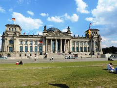 Reichstag, Seat of the Bundestag, Berlin, August 2015 (leonyaakov) Tags: berlin capitalcity germany monuments museum sunnyday summer citytour cityscape building architecture travel history worldtrekker parliament