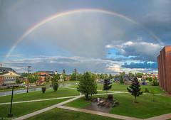 Rainbow after a rainshower (Debajyoti M) Tags: summer canada wow rainbow fredericton newbrunswick skyphoto autofocus flickrlover naturalcolours nbphoto flickrlovers d5100 summer2015