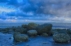 the Stone Age (bushay) Tags: blue cloud river nikon hour hdr rakhine sittwe kaladan d5300
