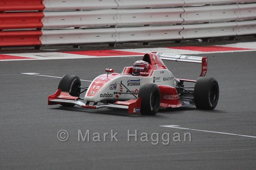Kevin Jörg in the Formula Renault 2.0 Saturday Race at Silverstone in WSR 2015