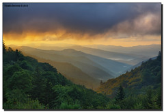 The Valley at Sunrise (Fraggle Red) Tags: morning trees summer mountains fog clouds sunrise dawn nationalpark northcarolina hills overlook smokies hdr smokymountains greatsmokymountains greatsmokymountainsnationalpark oconalufteeriver us441 canonef24105mmf4lisusm 7exp dphdr oconalufteevalley canoneos5dmarkiii 5d3 5diii oconalufteevalleyoverlook adobephotoshopcs6 adobelightroom5