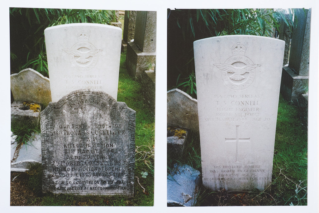 ? Sergeant TS Connell of Campsie - Images of gravestone