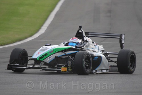 Sean Walkinshaw Racing's Zubair Hoque in BRDC F4 Race Two at Donington Park, September 2015