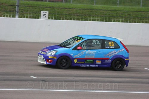 Kevin Stirling in Fiesta Racing at Rockingham, Sept 2015