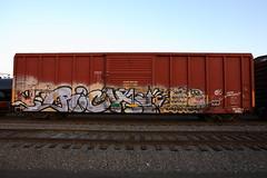 Rich (BombTrains) Tags: road railroad art metal train bench real graffiti paint tag graf rich rail spray xmen round graff rb enjoyment freight fr8 benching 77090 gmrc