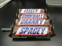 Snickers - A Candy Bar With a Midlife Crisis 2634 (Brechtbug) Tags: nyc mars food halloween bar october with candy chocolate identity snickers stuff goofball brand candies confusion cranky crisis feisty snicker midlife spacey schizophrenic 2015 a 10022015