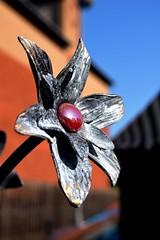 Metal Flower at the Art Market