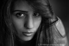 Cassandra 1 (veggiemarco) Tags: california portrait people blackandwhite woman girl monochrome beautiful hair losangeles nikon young naturallight boudoir brunette classy nikond800