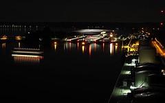 Kiel bei Nacht (Nord-Ostseekanal) (www.plainpixel.com) Tags: sea meer vessel balticsea maritime nautical ostsee nordostseekanal maritimes seefahrt nautic hochbrcke holtenau kielcanal kielbeinacht olympusm75300mmf4867ii olympusem5markii