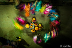Bathukamma 2015  ~ EXPLORED #494 (29-Oct-2015) (ujjal dey) Tags: motion blur flower festival women celebration slowshutter hyderabad hindu topview rituals 2015 ujjal telegu telengana bathukamma ujjaldey