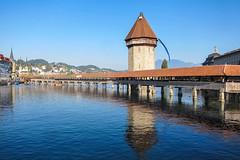 Chapel bridge, Lucern, Switzerland (donhall9141) Tags: switzerland 2015 201509 desktop lucerne 201509switzerland 4x6 3x4 aspectratio notecard top10 phototype