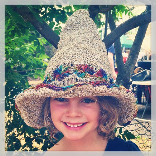 297/365 • such a late night last night, but all aglow in her new hat • #297_2015 #5yo #maldonfolkfestival2015 #hat #smiles #Spring2015