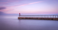 Tranquility (chrissmithphotos1) Tags: ocean pink light sea england seascape tourism water beautiful sunrise landscape dawn evening coast seaside colorful long exposure purple outdoor ripple gorgeous postcard yorkshire scenic tranquility calm coastal tranquil attraction