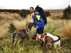 Jason Ballantyne pig hunting in New Zealand.