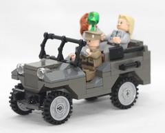 Russian WW2 LEGO GAZ67 - good_times (dmikeyb) Tags: car female soldier flask lego jeep wwii drinking soviet ww2 driver minifig females russian gaz67