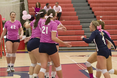 DAVE2441 (David J. Thomas) Tags: sports athletics women volleyball arkansas pioneers awareness breastcancer scots batesville pinkout lyoncollege crowleysridgecollege