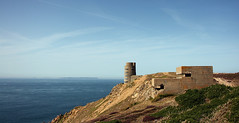 Naval Tower Les Landes, Jersey (Ray Crabb) Tags: sea holiday tower concrete wwii lookout german jersey ww2 naval defences coas leslandes 2013