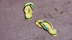 Havaianas... (Ray Crabb) Tags: holiday beach sand flip havaianas flipflops jersey flop plemont 2013