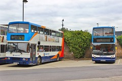 Perfect Pair (South West Transport News) Tags: thames manchester volvo kent canterbury 1999 east transit 1997 alexander dennis stagecoach rl trident olympian 16507 17624 alx400 v624dja r507uwl