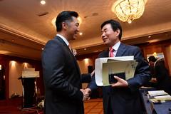 Chairman Hyun Jin Moon Greets Jinpyo Kim