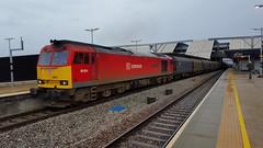 DB SCHENKER TUG 60024 @ Reading  6v62 Tilbury - Llanwern (dan warman1) Tags: train reading trains brush coco tug 1000views diesellocomotive clitheroecastle class60 60024 dbschenker 6v62tilburyllanwern