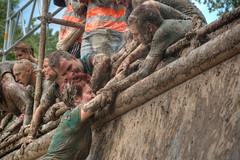 last hurdle 1 (stevefge) Tags: girls people netherlands sport climb mud nederland run event viking hurdles helping strongviking