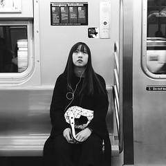 Joan (ShelSerkin) Tags: shotoniphone7 hipstamatic iphone iphoneography squareformat mobilephotography streetphotography candid portrait street nyc newyork newyorkcity gothamist blackandwhite