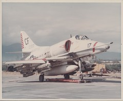 A-4 Skyhawk, VMA-211, circa 1968 (Marine Corps Archives & Special Collections) Tags: marine war jonathan vietnam corps marines abel