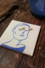 Tile in progress (Susana Carvalhinhos) Tags: tile pin pregadeira brooch azulejo ilustrao iilustration