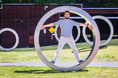 The Circle is looped (Éole) Tags: man self circle beard outdoor australia melbourne round mariniere éole eole vitruve