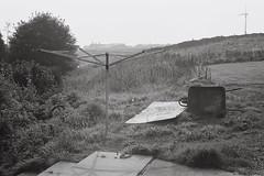 Bacup [September 2016] (lynnmariehall) Tags: olympus om10 ilford xp2 bacup pennines blackwhite monochrome analog film 35mm landscape hills hillside moors