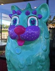 Catasaurus  [from Cat'n Around Catskill] (ArtFan70) Tags: catasaurus catnaroundcatskill ellenlevinson levinson mcdonaldsrestaurant mcdonalds catskill newyork ny unitedstates usa america art statue sculpture cat feline animal dinosaur