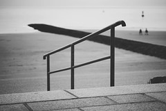 handrail (winne pu) Tags: monochrome bw germany norderney meineinsel coast beach sea northsea