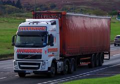 J A Stevenson of Avonbridge Volvo FH YT61AHD on the A9 at Bruar, 18/10/16 (andyflyer) Tags: jastevenson avonbridge volvofh yt61ahd a9 hgv lorry truck transport haulage roadhaulage