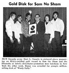 1965 Sam The Sham gold record (Al Q) Tags: 1965 sam the sham gold record wooly bully pharoahs mort nasatir