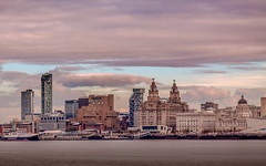 Liverpool From The Wirral (mark196611) Tags: liverpool city water front mersey river ferry liver building