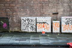 F**k Off! (m.o.n.o.c.h.r.o.m.e.) Tags: kingsstablesroad cabinet scotland edinburgh boxes graffiti wall writing fuckoff
