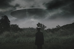 In the tragedy of being alive comes the comedy of being alive (cikipretadaw) Tags: digitalart alien ship scenics landscape nature man people dark darkness darknessandlight sky surrealism surreal conceptualism art artgallery artwork artistic artsy