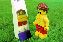 Future Mirror (Lesgo LEGO Foto!) Tags: lego minifig minifigs minifigure minifigures collectible collectable legophotography omg toy toys legography fun love cute coolminifig collectibleminifigures collectableminifigure swimsuit swimmer slim fat futuremirror future mirror