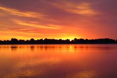 IMG_5958 (Light from Light) Tags: sunrise water orange sky clouds canong12 colorado boydlake