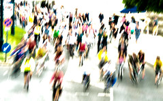 Bicycles in Budapest (bjg_snaps) Tags: bicycles bike bikes race highkey blur motion shutterspeed budapest