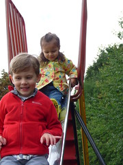 Dexter and Robyn on theSlide (Peter Ashton aka peamasher) Tags: child children grandchild grandchildren grandson granddaughter dexter robyn