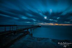 Amble sunrise (R0BERT ATKINSON) Tags: amble amblepier nikond5100 northeastengland northumberland northeastcoast northsea northumberlandcoast sky sunrise pier lighthouse robatkinsonphotography sigma1020 nikon coast
