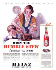 Heinz Tomato Ketchup, 1932 (Tom Simpson) Tags: 1932 1930s vintage ad ads advertising advertisement vintagead vintageads food heinz ketchup catsup tomato