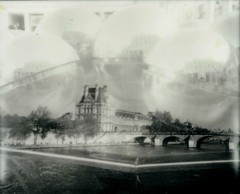 Bubbly city (marion (milky soldier)) Tags: paris parismorphose polaroid spectra roidweek polaroidweek polaroidweek2016 doubleexposure film instantfilm theimpossibleproject impossible impossibleproject refection architecture