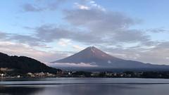 Mt. Fuji and Lake Kawaguchiko. Japan, 2016. (wonderfilledfaith) Tags: iphonephotography mountain japan summer travel lakekawaguchiko mountfuji