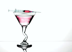 What's in Your Drink? (Karen_Chappell) Tags: glass pink white needle liquid stilllife martini product one