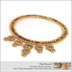 Pearl Cascade (The Manek Lady) Tags: maneklady beads swarovski pearls honeycomb clasp necklace collar lariat