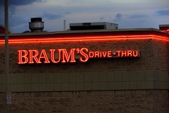 Braum's lit up at night (kevinellison62) Tags: edmond oklahoma braums neon restaurant building